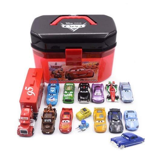 Lihgfw Racing Geschichte Black Storm Blitz-Legierung Spielzeug-Auto-Modell-Aufbewahrungsbehälter-Koffer Set Geeignet for Kinder Jungen und Mädchen (Color : Schwarz)