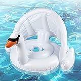 Flotador para Bebé,Anillo de natación Asiento, Anillo de Natación Bebé Hinchable,con Cubierta Solar y Protección de Cintura Ajustable, Baby Float para Bebé de 12 a 36 Meses