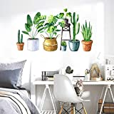 Pegatinas de pared con hojas de plantas tropicales, adhesivos de vinilo extraíbles, decoración de pared para aulas, oficinas, dormitorio, sala de estar, decoración del hogar