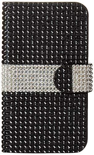 Reiko Wireless Diamond Flip Case for Kyocera Hydro Icon C6730/Life C6530N - Black