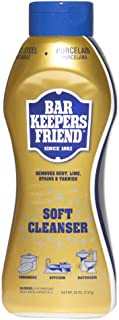 Bar Keepers Friend Soft Cleanser Liquid (26 oz - English/Spanish) - Multipurpose Cleaner & Rust Stain Remover for Stainless Steel, Porcelain, Ceramic Tile, Copper, Brass, and More (1)
