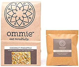 Sponsored Ad - Ommie Snacks Nut-Free Energy Bar (7 Pack) -Coconut Pineapple Fruit & Seed Granola Bar | Allergy Free: Nut F...