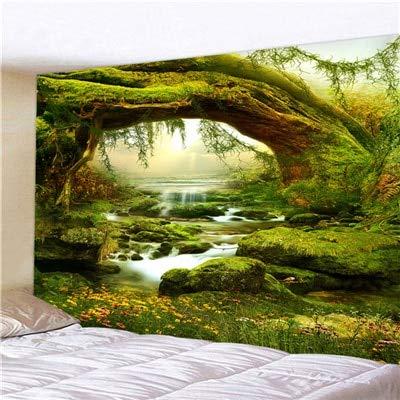 KHKJ Arbre de Vie Mandala Tapisserie Tente Hippie décoration Sorcellerie Tapisserie Mur Naturel psychédélique Chambre Mur Tapis A1 200x150 cm