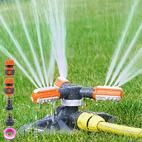 Irrigatore Prato, Lawn Sprinkler Automatico Rotante a 360 °, Irrigatore Giardino per Giardino, Cortile, Prato