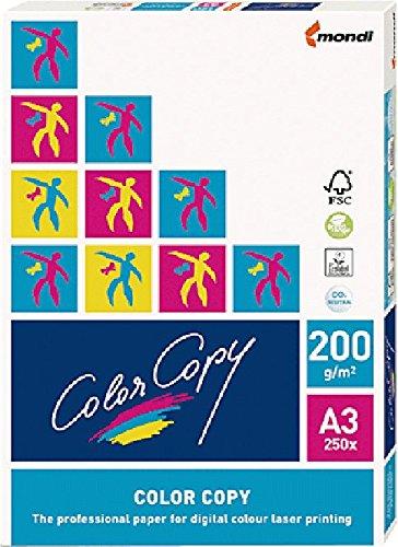 mondi Color Copy Kopierpapier/023802019052 A3 weiß geriest 200g Inhalt 250 Blatt