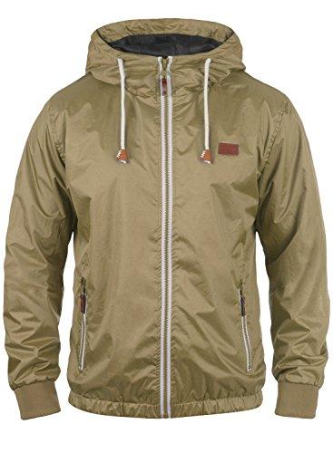 Blend Mats Herren Windbreaker Regenjacke Übergangsjacke Mit Kapuze, Größe:XL, Farbe:Safari Brown (75115)
