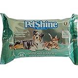 PORRINI Toallitas Higiene para Perro y Gato,Musgo Blanco Aloe, 40 uds, Perro