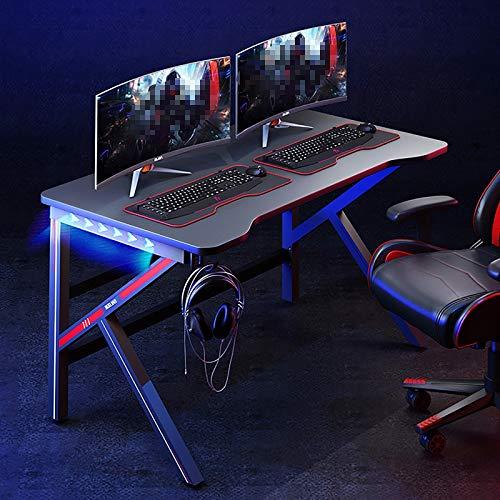Mesa de Juegos Gaming para Computadora LED,con Gancho para Auriculares, Mesa Gaming PC Escritorio,120 * 60 * 75