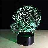 lampara 3D Pared Luz de Forma de Casco 16 Cambios de Color Interruptor táctil y Remoto Navidad