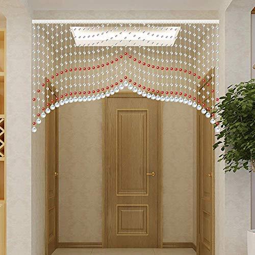 ZXL kralen gordijnen, 45 strengen, kristallen glas kamer scheidingswand voor woonkamer (kleur: A, afmeting: 140x80cm)