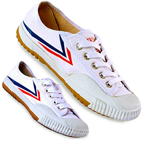 T.O.P ONE Kung Fu Martial Arts Parkour Shoes,Rubber Sole Sneakers-White 44(Men 10.5 Women 12) …