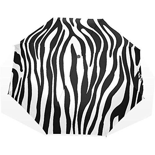 EW-OL Regenschirm Zebra Texture Travel Golf Sun Rain Winddichte Regenschirme mit UV-Schutz Regenschirm