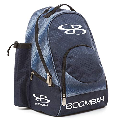 "Boombah Tyro Baseball/Softball Bat Backpack - 20"" x 15"" x 10"" - Ink Digital Fade Navy/Gray"