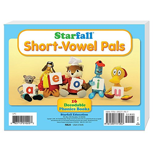 Compare Textbook Prices for Starfall Short-Vowel Pals 16 Decodable Phonics Books 2015 Edition ISBN 9781595771957 by Starfall Education