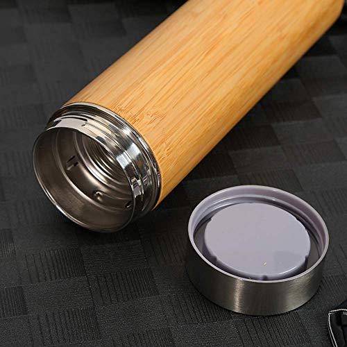 Generic Brands Boccetta del Vuoto Boccetta del Vuoto in Acciaio Inossidabile Tazza di bambù Car Business Car Portable Car Cup