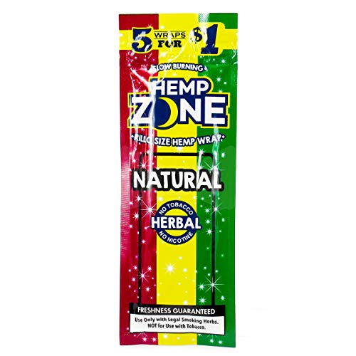 Hemp Zone Natural Flavor Hemp Wrap All Natural (9 Packs)
