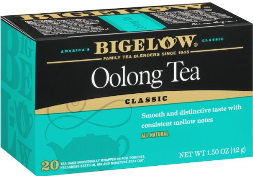 cheap Bigelow oolong tea bag 20 pieces per box (6 pieces), oolong tea with caffeine, 120 tea bags in total