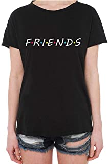Metermall Unisex Friends Letters Printed Fashion Short Sleeve Casual T-shirts