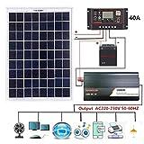 18V 20W Solar Panel Power System + 12V / 24V Digital Controller + 1000W Inverter