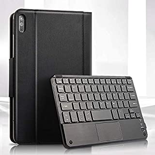 Camande Suitable for Huawei Matepad Keyboard Case 10.4-Inch Tablet Split Touch Bluetooth Keyboard Leather Case_Black