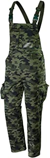 Neo Men's Work Fishing Hunting Bib and Braces Dungarees Overalls Trousers Pants - CAMO