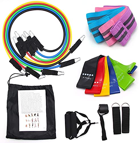 Solza Resistance Bands for Exercise | Tension Bands Exercise Set | Workout Bands | Resistance Workout Bands | Fitness Bands