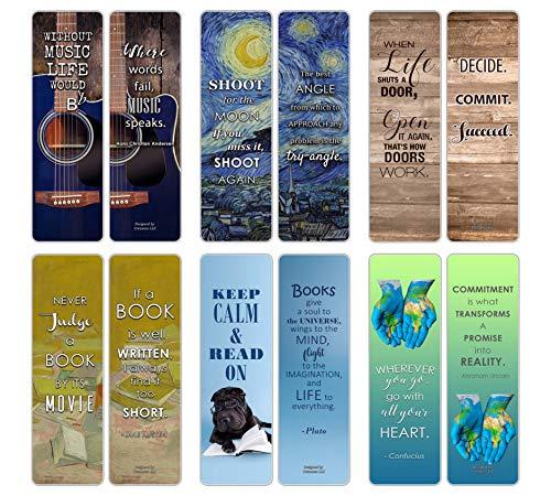 Marcadores de livro inspiradores Creanoso para livros, 60-pack, 60-Pack