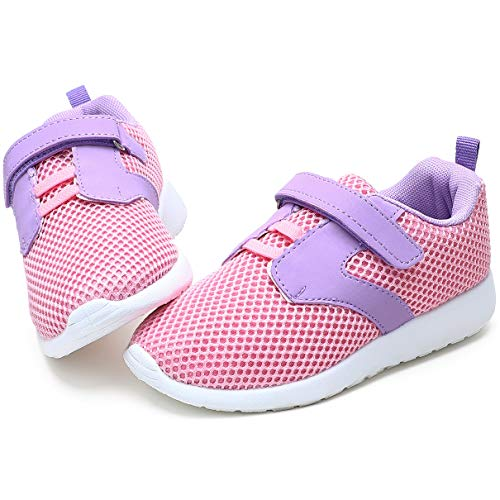 tombik Toddler Shoes Girls, Kids Sneakers Athletic Sport Running Shoes Pink/Purple 2 M US Little Kid