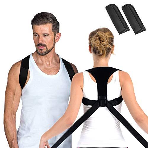 Anoopsyche Rücken Geradehalter, Haltungskorrektur Schultergurt Haltungskorrektur für Damen Herren mit 2 Schulterpolster, Posture Corrector Einfach zu Tragen und Effektiv, M