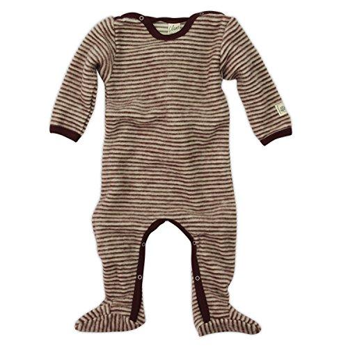 Lilano Anzug mit Fuß, Farbe Beere-Natur, Größe 50 aus 100% Schurwolle kbT Wollbody®