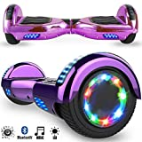 Magic Vida Skateboard Elettrico 6.5 Pollici Bluetooth Power 700W con Due Barre...