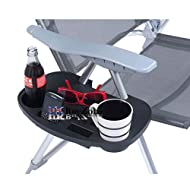 Clips on to the tubular sections of the chair Slots for keeping your cell phone, mug, bottle and other things in place Absolutely portable and travel friendly side table Ideal for camping, sports events, the beach and any other activities Approximate...
