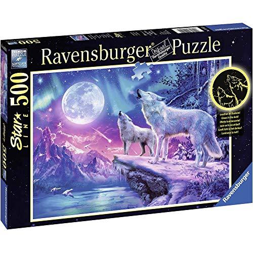 Ravensburger 14952 0 Wolf Im Nordlicht Puzzle, Mehrfarbig