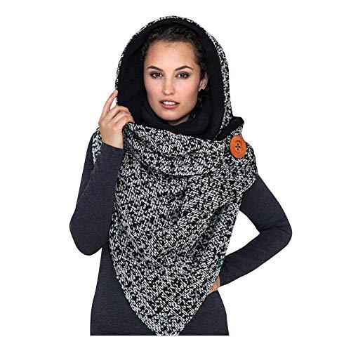 Schal Damen Mode Winter Frauen Druckknopf Soft Wrap Lässig Warme Schals Schals...