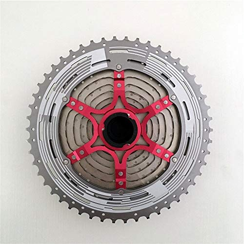 GYHUJI 11 Speed ​​Cassette 11-50T 11s Rapport Large Freewheel Mountain Bike Pignons Fit for X1 XO1 XX1 K7 M9000 Sram Sunrace Pièces Vitesse Cassette (Color : 11S 50T)