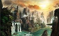 DSJHK 大人のためのパズルジグソーパズル1000ピースの崖の滝ミスト自然教育玩具レジャーDiyゲームギフトパズルジグソーパズル
