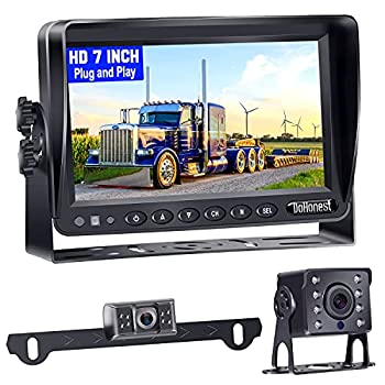 Backup Camera for Trailer,HD Night Vision 2 Rear View Cameras 7   LCD Monitor High-Speed Observation No Delay Kit Compatible with Furrion Pre-Wired for RVs Truck Bus Caravan Camper Boat-DoHonest P13