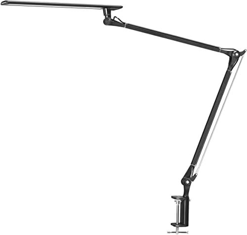 Phive LED Desk Lamp Architect Task Lamp Metal Swing Arm Dimmable Drafting Table Lamp with Clamp (Touch Control Eye-Ca...
