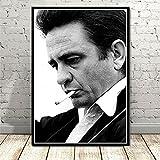 WHMQJQ Vintage Poster und Drucke Johnny Cash Rock Musik
