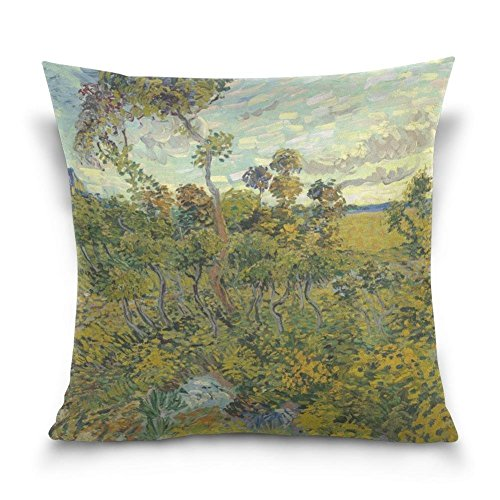 Gary S.Shop Sunset at Montmajour Home Decor Pillow Case 18 x 18 Inch