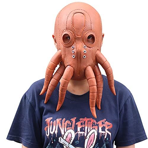 Máscara de pulpo de Halloween para disfraz de miedo, cosplay, fiesta, carnaval