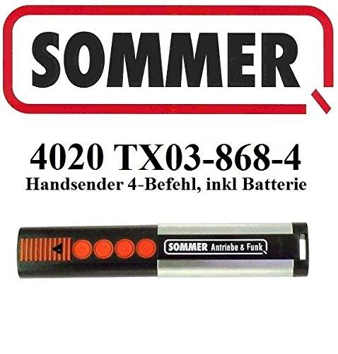 Sommer 4020 TX03-868-4, 4-kanal handsender, 868,8Mhz Rolling code!!! Top Qualität original fernbedienung! 100% Kompatibel mit Sommer 4020, Sommer 4031 & Sommer 4025