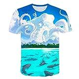Camiseta de Manga Corta Camisa 3D Camiseta Informal De Pesca Nueva Impresión 3D De Peces Cuello Redondo De Verano De Manga Corta Xxs-6Xl Ropa De Anime XXXL 5814