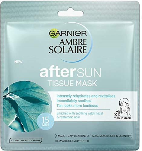 Ambre Solaire - Kit di maschere per il viso per il raffreddamento dopo il sole, confezione da 5 pezzi