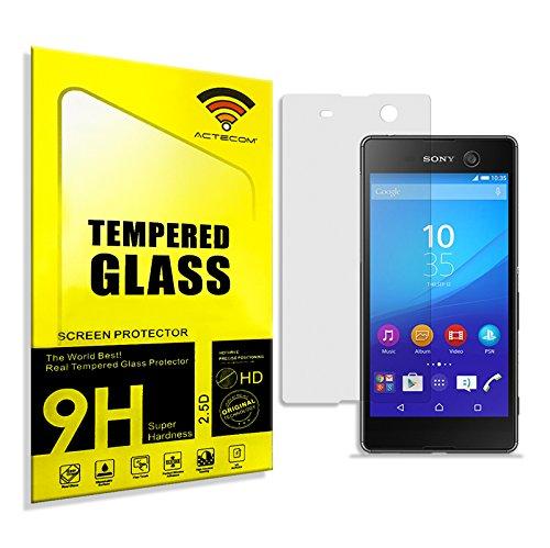 cogac ACTECOM® Cristal Templado para Sony Xperia M5 Protector con Caja