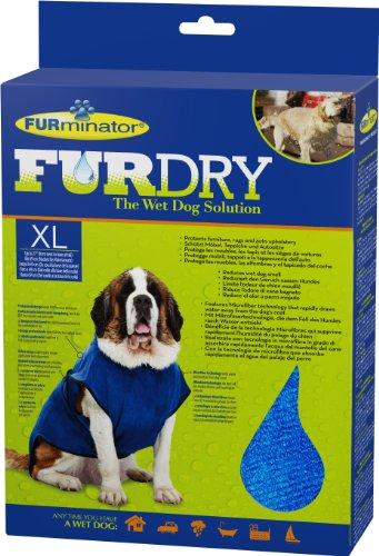 FURminator FUR Dry für Hunde (sehr groß, bis 69 cm Körperlänge, blau)
