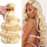 8-40Inch Honey 613 Blonde Human Hair Bundles Brazilian Body Wave 1 Bundles 10A Grade 100% Unprocessed Virgin Long Remy Weave Hair Extensions (32inch, 613 blonde-body wave)