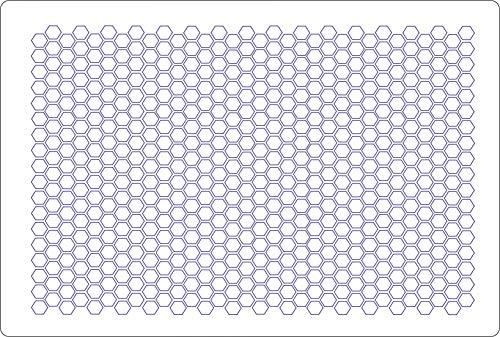 Airbrush Waben/Honeycomb Wabenmuster Schablone Stencil
