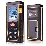 196 Feet Laser Distance Measure, Kuman Handheld Laser Range Finder 0.05 to 60m