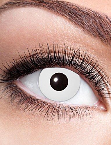Kontaktlinse White Zombie dpt. -1,0 bis -4,0 Größe: -3,0 Dioptrien